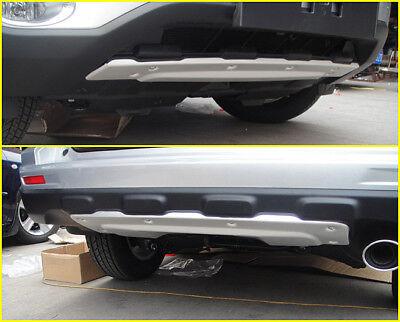 Aluminum alloy Front+Rear Bumper Protector cover plate For Honda CRV 2010 2011