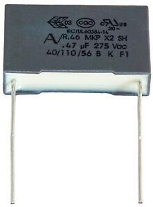 1 Condensateur Mkp X2 220-230v 0,47µf 0.47µf 470nf 474k 474 K 275vac 22,5mm Uf Kgmobact-07161453-602208696