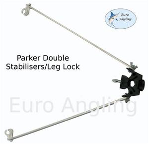 Parker-Angling-NUEVO-Tripode-Resto-Varilla-DOBLE-Estabilizador-Pierna