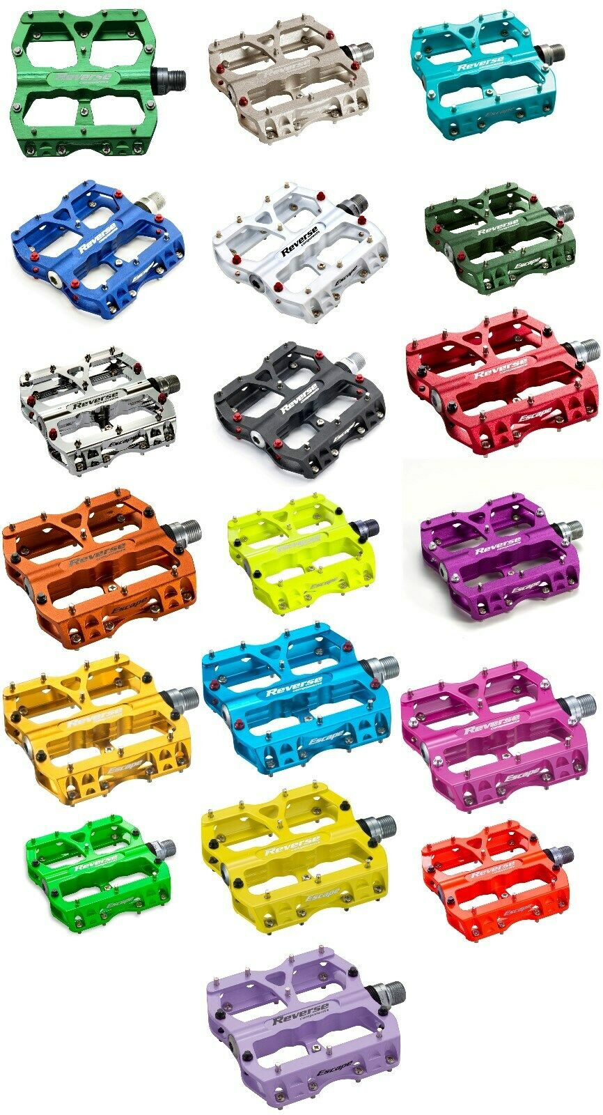 Platform Pedals Reverse Escape in Various Colours