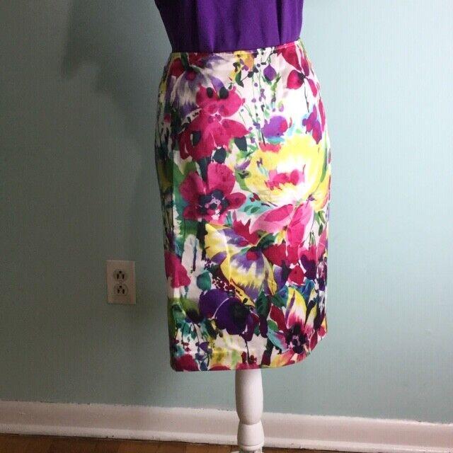 Jones New York- Red & Purple Floral Skirt