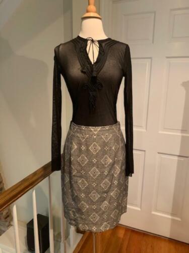 Vintage Ann Klein / Donna Karan Black & Cream Suit