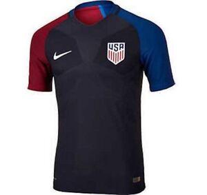 89c521721 NIKE US USA National Team Vapor Match Black Away S S Soccer Jersey ...