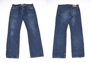 Levi Strauss Levi's Original 501 Droit Jambe Bouton Mouche Bleu Men Jean W36 L34