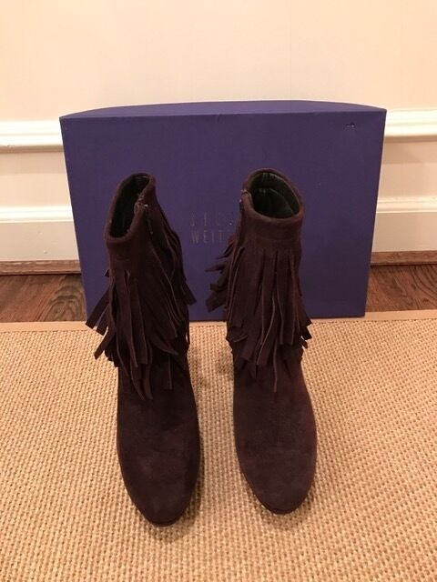 Stuart Weitzman Brown Suede Ankle Boots - Size 7 1/2