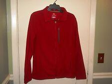 Tek Gear Mens Polar Fleece Jacket Size Small Deep Red Full Zipper Front NWT