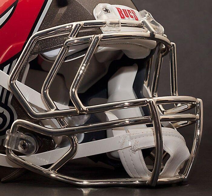 TAMPA BAY BUCCANEERS Riddell Speed S2EG Football Helmet Facemask (CHROME)