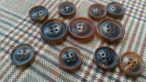 De-Lujo-Sin-Pulir-4-agujero-botones-de-cuerno-real-conjunto-traje-chaqueta-de-abrigo-SPORT-a-medida