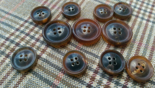 Luxury unpolished 4 hole real HORN BUTTONS SET sport coat suit blazer bespoke