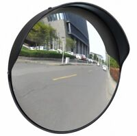 Convex Traffic Security Mirror Outdoor Safety Car Display Driveway 12 Black