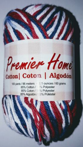 Premier Home Cotton Yarn Color America Red White Blue 44-04 NEW