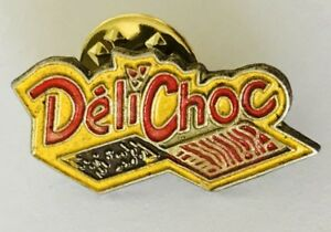 Deli-Choc-Brand-Advertising-Pin-Badge-Rare-Vintage-C18