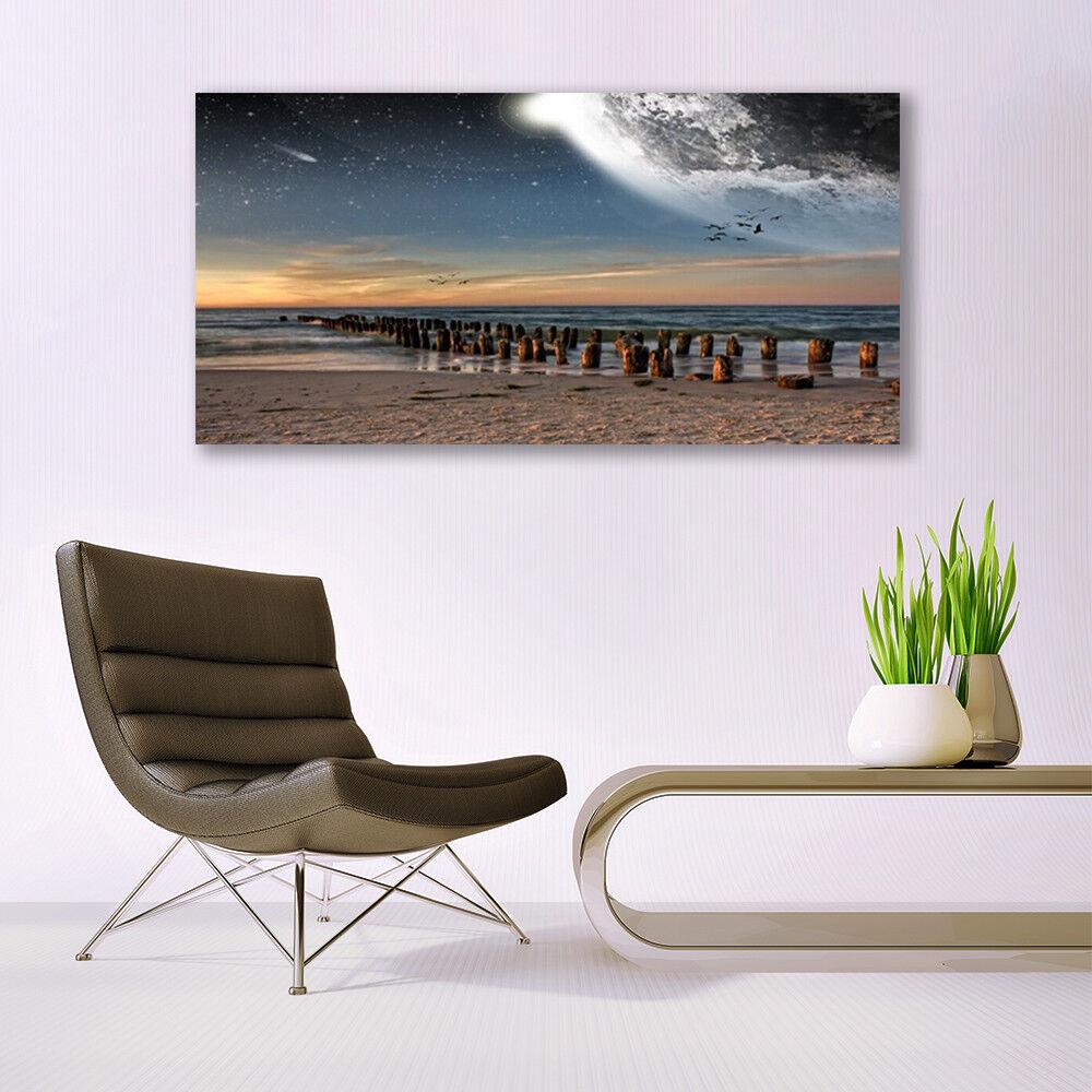 Canvas print print print Wall art on 140x70 Image Picture Ocean Beach Landscape 121c85