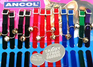 Cat-Collar-Ancol-Soft-Velvet-FREE-ENGRAVED-PET-ID-TAG-amp-Ring-In-5-Colours