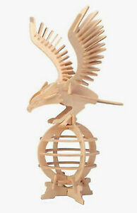 Details about EAGLE 3D Jigsaw Realistic Wooden Model Construction Decorate  Toy DIY Puzzle Gift