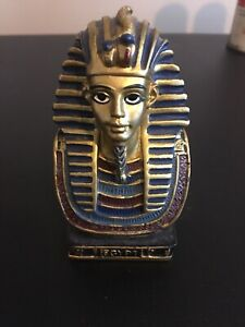 Hand Painted Egyptian King Tut Statue From Egypt.