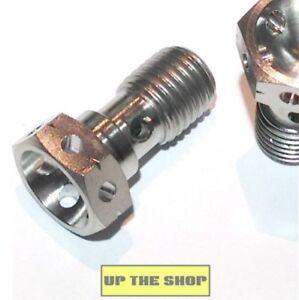 M10 Double Banjo Bolt x 1.25 Titanium Screw drilled lock safety wire Race