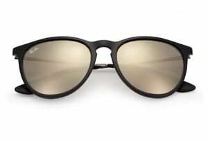 fe0fbc03f9 Ray Ban Erika RB4171 601 5A Sunglasses Black Gunmetal Gold Mirrored ...