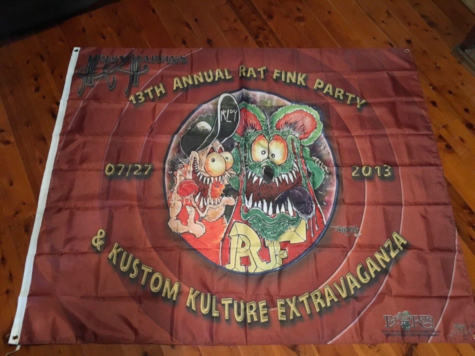 Rat fink ed Roth fugly Man cave poster flag harley Mc Huge 6x5 foot outlaw biker