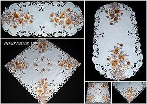 dore-Coquelicot-Nappe-Chemin-de-table-couverture-avec-brode-fleurs-et-feuilles