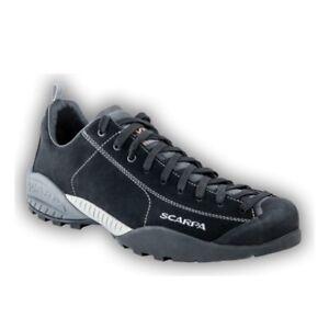 Details zu Scarpa Mojito Leder Sneaker Trekkingschuhe schwarz