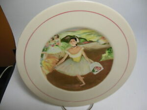 VINTAGE-EASTERN-CHINA-NEW-YORK-Degas-Interpretations-9-5-034-Plate-Dish-Ballerina
