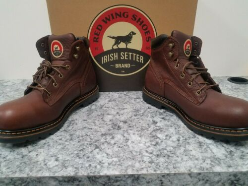 """Red Wing Irish Setter 83604 EH Rated 6/"""" Lace Up Safety Toe Final Price"""