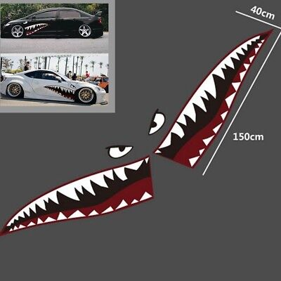 """59""""Full Size Shark Mouth Tooth Teeth Graphics Vinyl Car ..."""