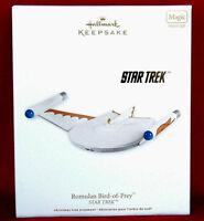 Hallmark 2011 ROMULAN BIRD OF PREY Star Trek New Magic Lighted Ornament