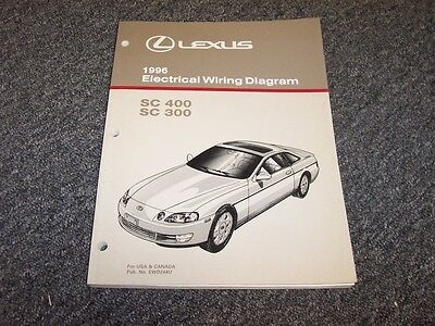 1996 Lexus SC400 & SC300 Coupe Electrical Wiring Diagram ...