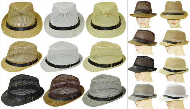 Men Ladies Sun Panama Hat fedora Replacement strap Red White Hat band 42
