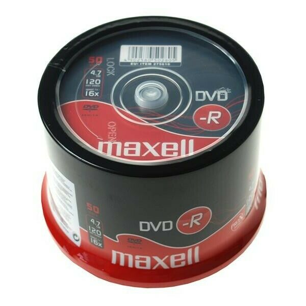 DVD-R 4.7GB Maxell 16x 50er Cakebox