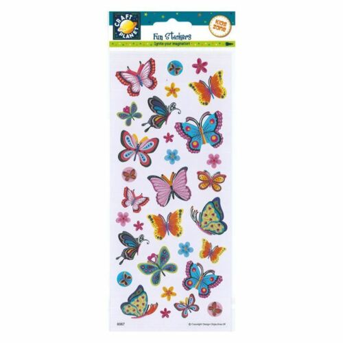 Blooms /& Butterflies for cards and crafts Craft Planet Fun Stickers