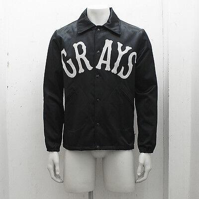 NEW Mens Ebbets Field Flannels Black Satin Windbreaker GENUINE RRP: £270 Size: M