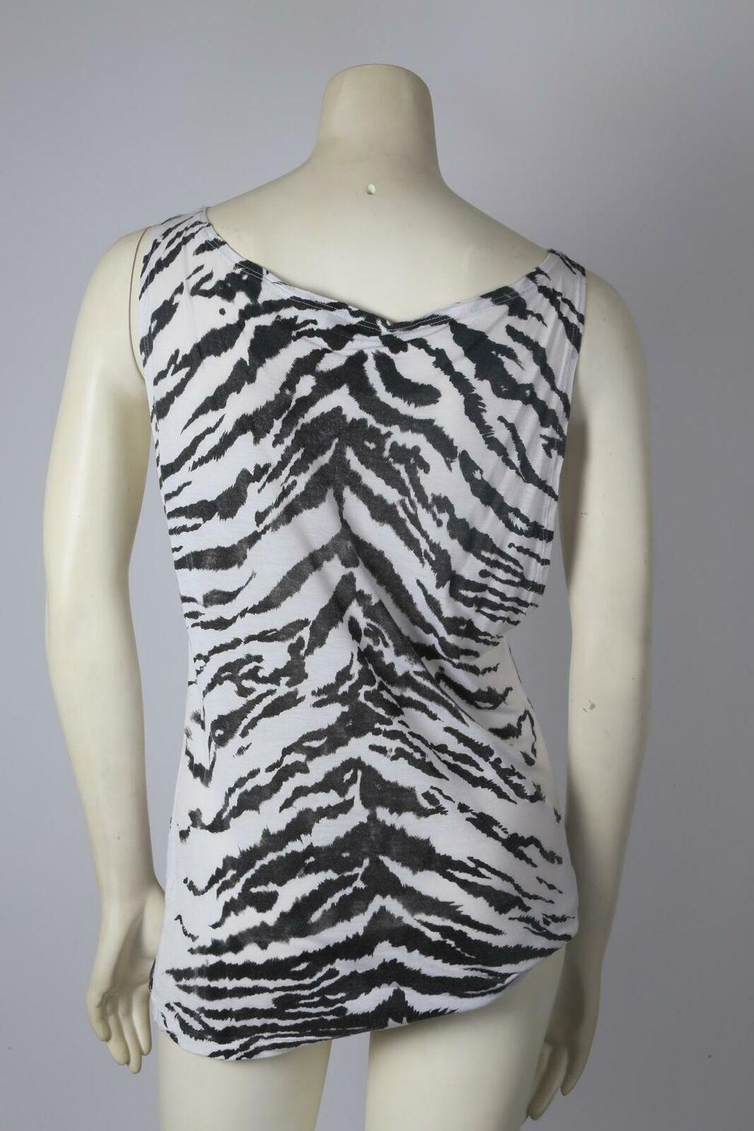SAINT LAURENT Zebra Print Sleeveless Top Size S - image 5