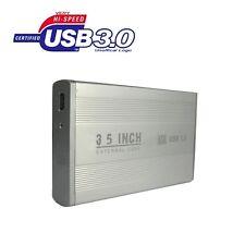 """BOX CASE ESTERNO HARD DISK SATA 3,5"""" USB 3.0 HD DRIVE HDD DISCO PORTATILE PC"""
