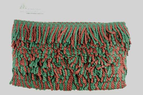 Green /& Wine lingotes Flecos Recorte De La Decoración 2.5 pulgadas de ancho 12.5 metros