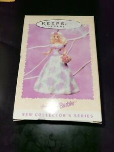 Hallmark-1994-Springtime-Barbie-Easter-Ornament-Keepsake-1st-Series-Original-Box