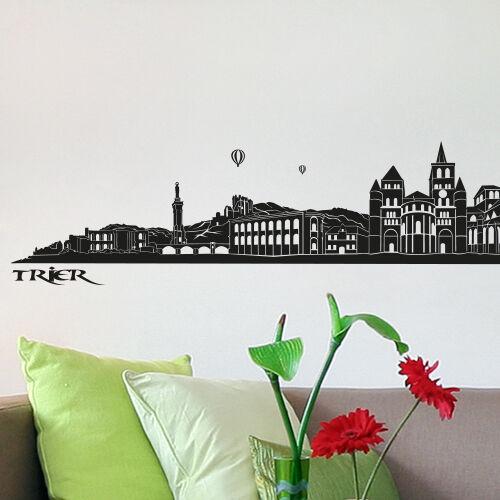 SKYLINE Trier Muro Tatuaggio   Muro Adesivi Adesivi decorazione di Wandkings