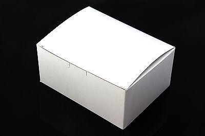 """100pc 6""""X4.5""""X2.75"""" White Easy Fold Bakery Cake Boxes Birthday Wedding Wholesale"""