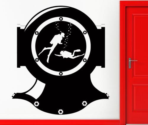 z2385 Wall Stickers Vinyl Decal Scuba Diving Suit Divers Deep Ocean Decor