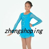 Girls' Ice Skating Dress Women's Competition Turquoise Figure Skating Dress