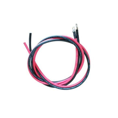 Noir + Ro Câble de Connexion Régulateur-Batterie 2x2M 6mm2 avec Cosse pré-câblé