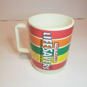 Vintage-Deka-Plastic-Life-Savers-Coffee-Mug-Sippy-Cup-Drink-Glass-No-Lid