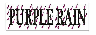 Purple Rain BUMPER STICKER or helmet sticker D1006 Prince