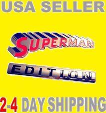 SUPERMAN EDITION EMBLEM 3D Car Truck Old OPEL AMC PEERLESS Logo Decal SIGN Badge