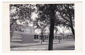1957-RPPC-LARIMORE-ND-PUBLIC-SCHOOL-VINTAGE-POSTCARD-NORTH-DAKOTA-HOPKINS-MN-OLD