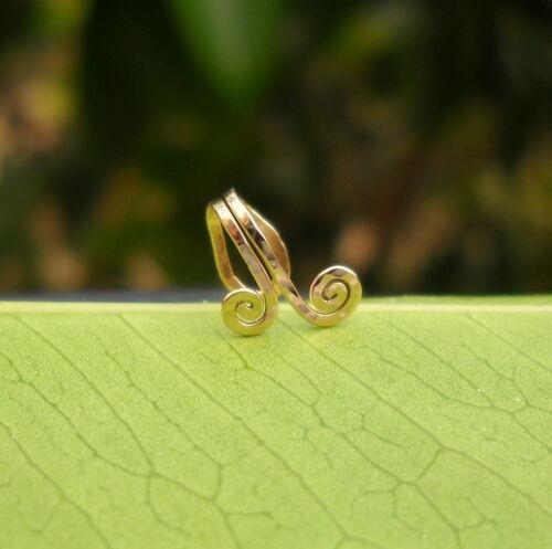 Fake Piercing Tragus Earring Ear Cuff 14K Rose Gold Filled Fake Nose ring