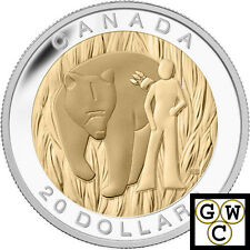 2014 Courage-7 Sacred Teachings Gold-Plated Prf $20 Silver Coin 1oz 9999 (13947)