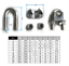 2mm Diameter 304 Stainless Steel Wire Rope Cable Clip Clamping Ring Accessories